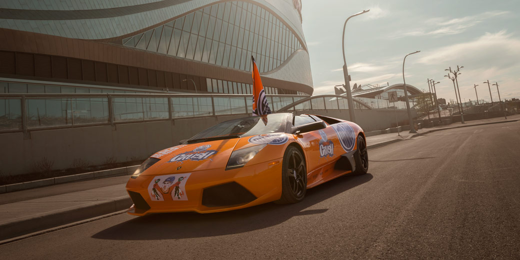 Orange Crush Lambo by Avant Garde Motorsports