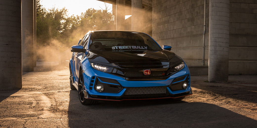 2020 Civic Type R in Boost Blue